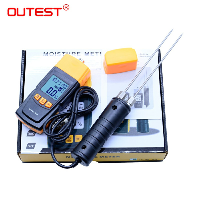Digital LCD Display Wood Moisture Meter 2~70% Humidity Tester Timber Damp Detector portable wood moisture meter GM620 mastech ms6900 portable digital timber wood moisture meter lcd hygrometer temperature meter humidity meter tester