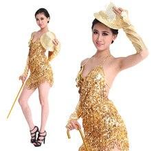 Vestido de salsa latina con flecos, novedad, barato, oferta especial, 2018