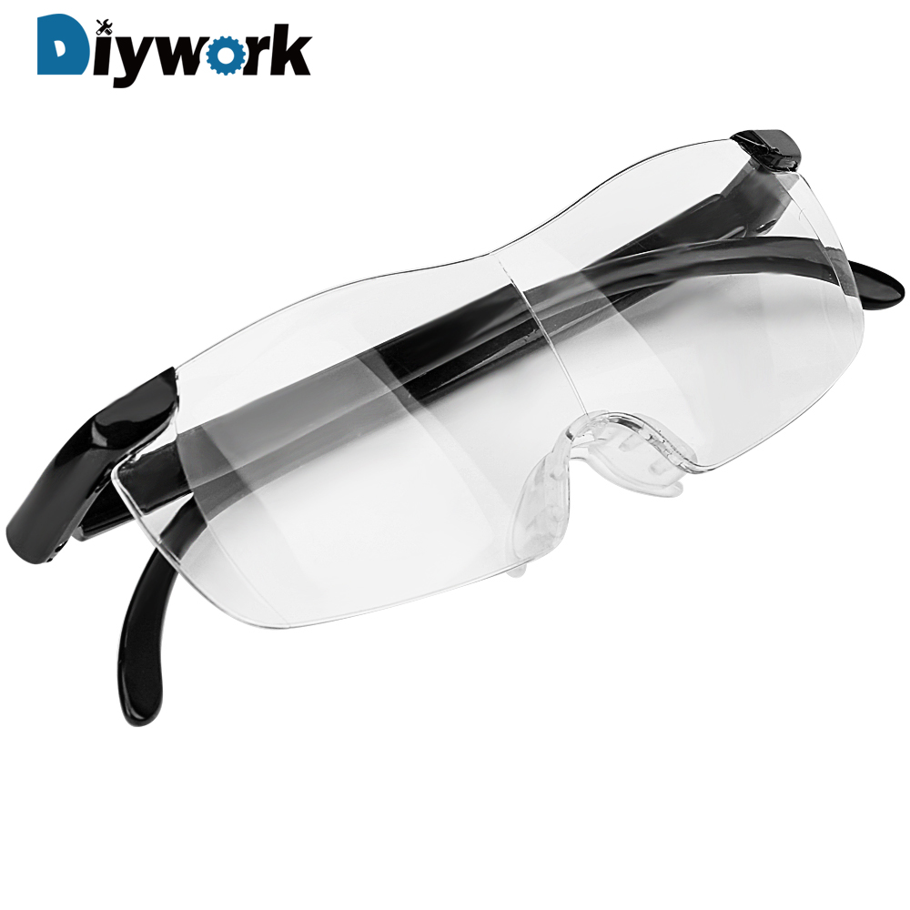 DIYWORK 1.6 Times Magnifying Glass Working Goggles Magnifiers Eyewear 250 Degree Presbyopic Glasses  Eye Protection