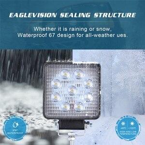 Image 4 - Luces Led Para אוטומטי 2x LED מנורות עבור מכוניות LED עבודה אור תרמילים 4 אינץ 90W כיכר ספוט Beam offroad נהיגה אור בר