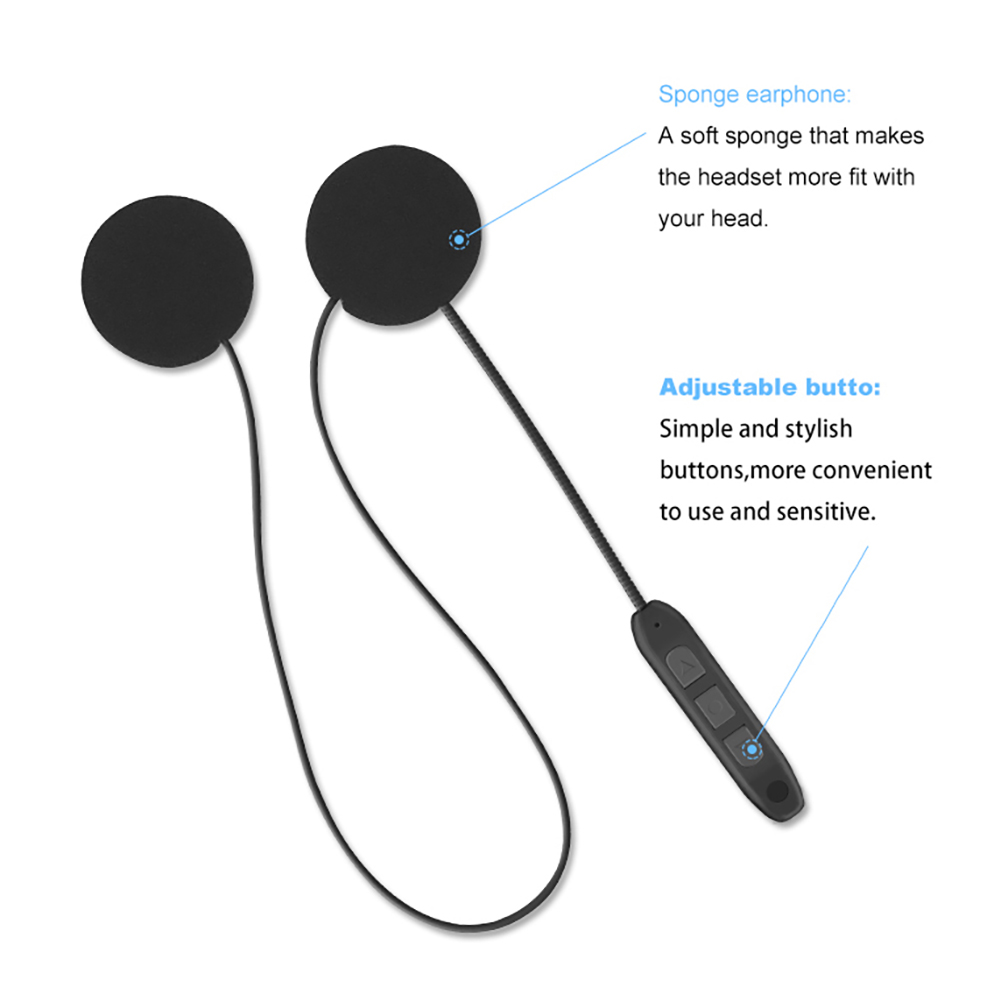 Motorcycle Bluetooth Headset Anti-Interference For Motorcycle Helmet Riding Hands Free Headphone Universal
