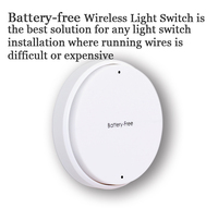 Smart home RF Wireless Safe Remote Control Self generating battery free Electricity Removable Intelligent RF Switch