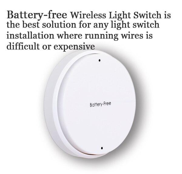 Smart home RF Беспроводной Безопасного Удаленного Управления самогенерирующего батареи бесплатное Электричество Съемный Интеллектуальные РФ Переключатель Одна Банда