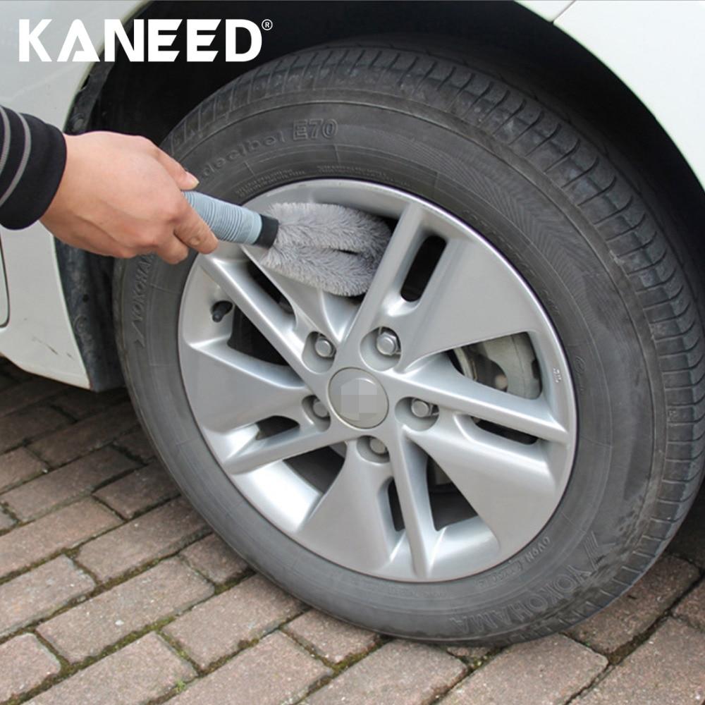 Car Wheel Tire Rim Scrub Brush Hub Clean Wash Brush Car Truck Motorcycle Bike Washing Cleaning Tool