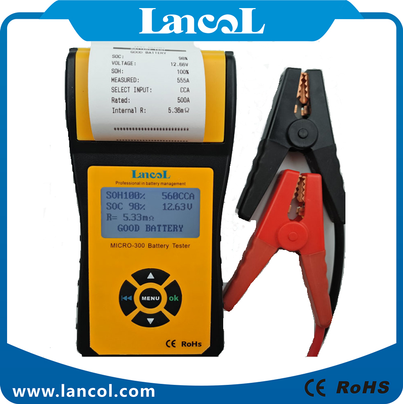 Lancol MICRO300 Новый батарея анализатор Универсальный батарея тестер 12 В в батарея автомобиля батарея тестер проверки со встроенным принтером