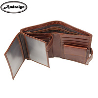 Andralyn RFID Wallet Antitheft Scanning Genuine Leather Wallet Retro Men S Business Short Wallet Credit Card