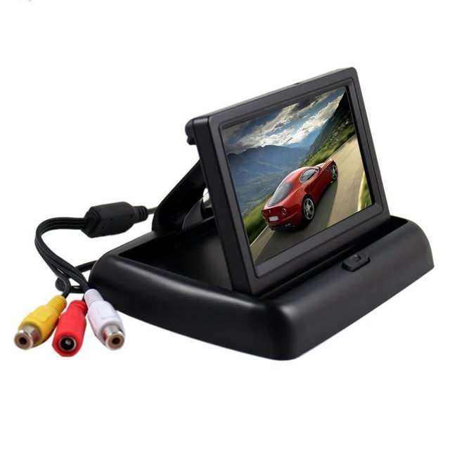 Zeepin 4,3 дюймов ЖК дисплей Мониторы 12 В в проводной 234*480 портативный HD заднего вида камера 3 Вт Цифровой дисплей NTSC PAL