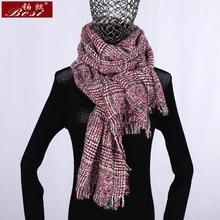 Mode Plaid Bande tricoté gland écharpe d hiver foulards poncho femme rouge  pour femmes Noir châle de luxe écharpes schal rose sc. c1fd7917f00
