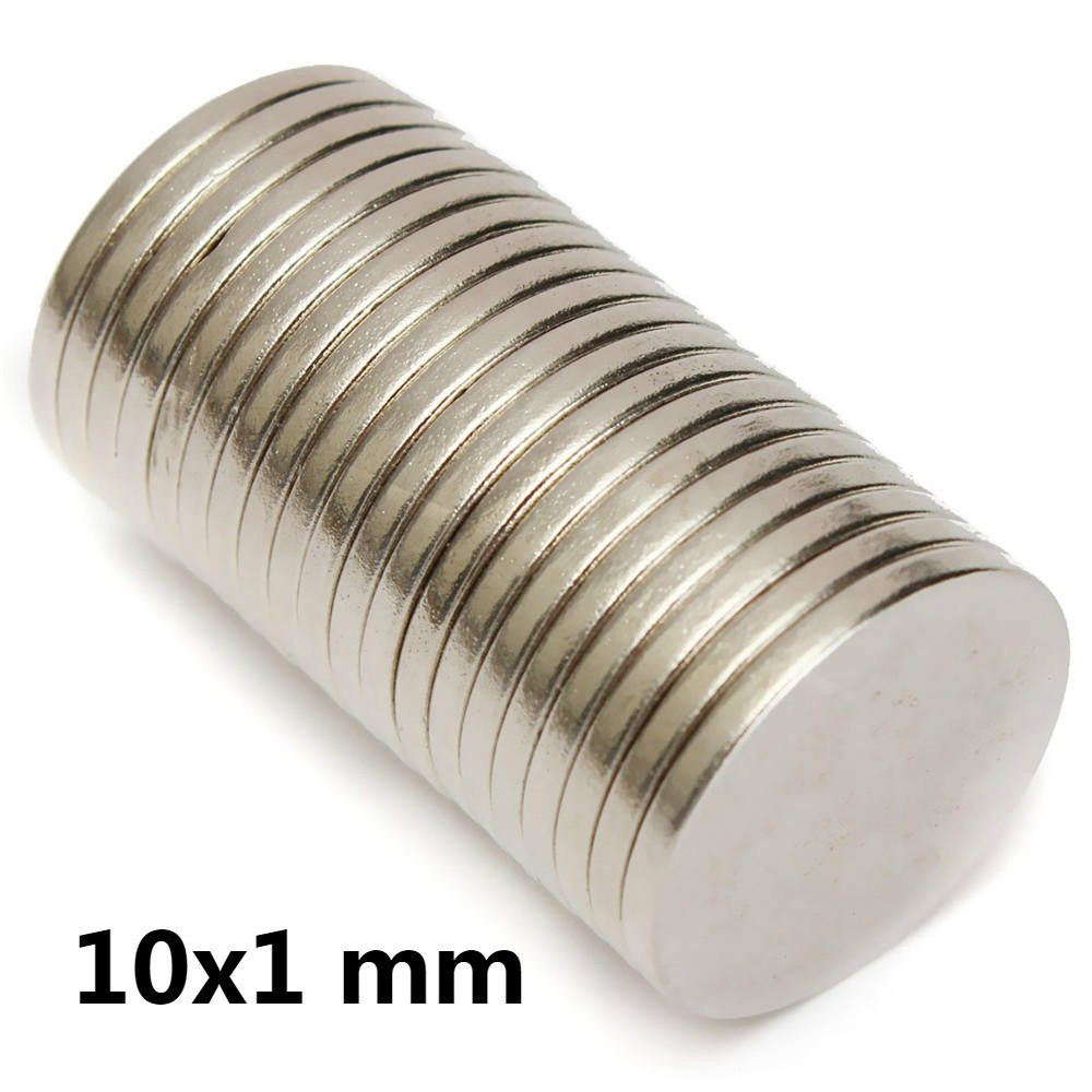 AETool 10x1mm Magnets For Crafts Rare Earth Neodymium Magnet Super Strong Magnet Sheet Magnets Titanium Magnet Diy Tiny Magnets