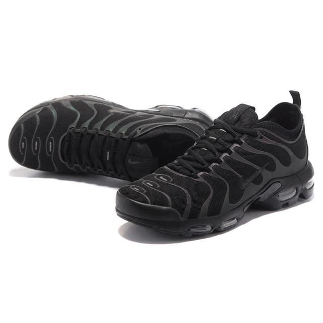 Original NIKE AIR MAX PLUS TN ULTRA Men's Running Shoes, Black, Wear-resistant Shock-absorbing Breathable Non-slip 898015 002