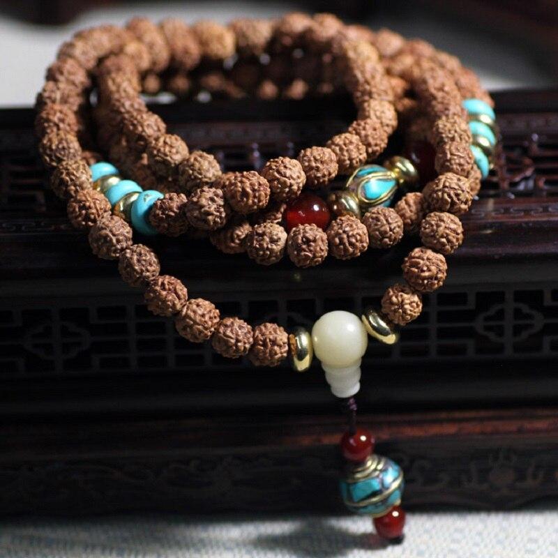 8 Mm Blanc Turquoise Bracelet de la chance de Guérison énergie spiritualité Gemstone Bracelet