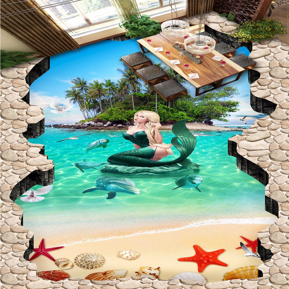 Online buy wholesale island wallpapers from china island for 3d wallpaper for hall