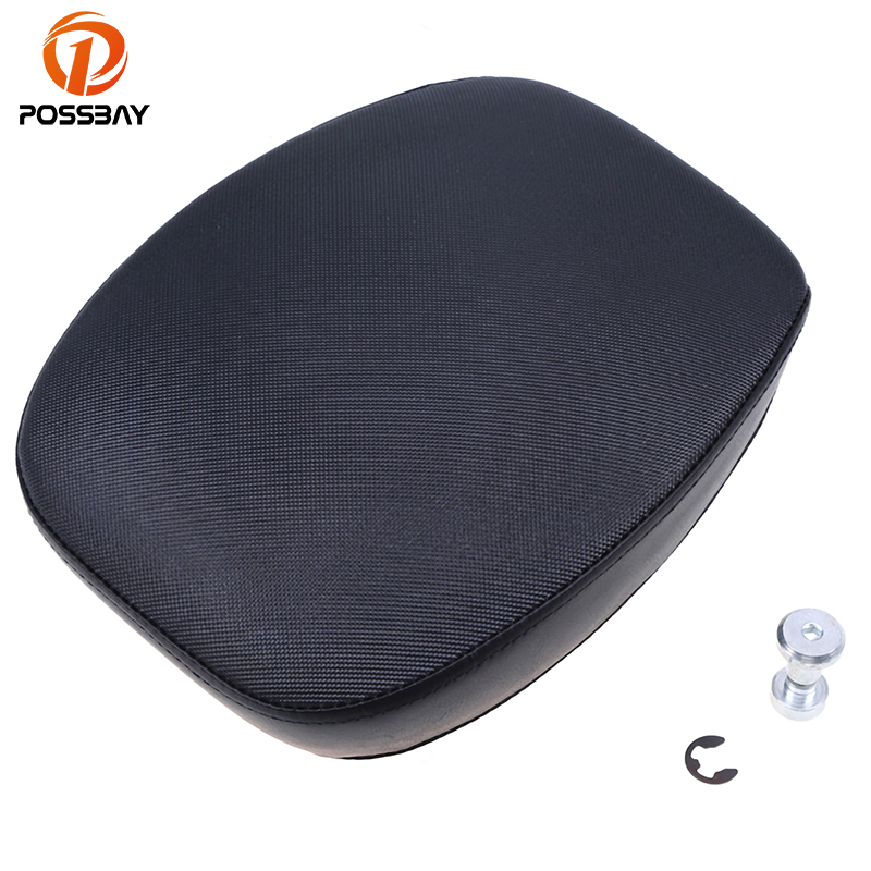 POSSBAY PU Leather Motorcycle Seats Cafe Racer Seats Custom Rear Passenger for Harley 883/48 12-15 Scooter Motocross Seats