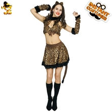 90f37d31f593 DSPLAY Carnival Sexy Leopard Woman Party Costume Cute Animal Fancy Dress  Women Roleplay New Style Mascot