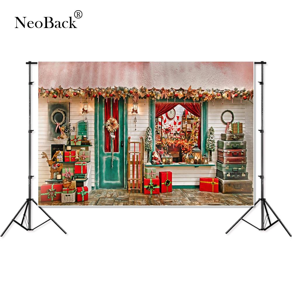 NeoBack photography backdrop Christmas gift house celebrate background photocall photographic photo studio photobooth P1947 in Background from Consumer Electronics