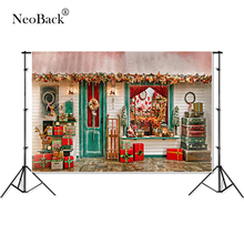 NeoBack Thin Vinyl Children Kids Christmas Photography Background Computer Printed Newborn baby Photo studio Backdrops P1947