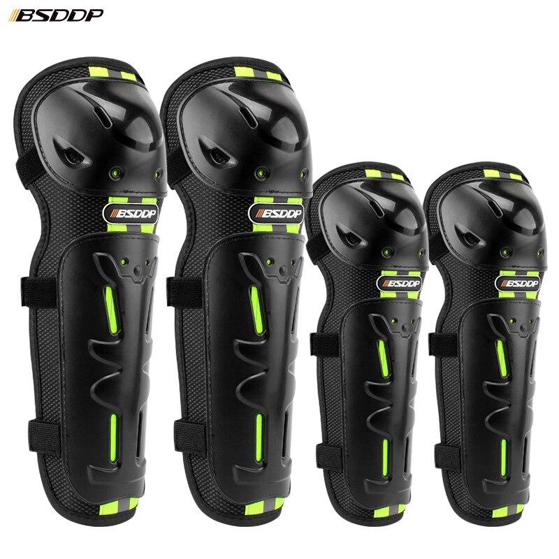 4pcs Motorcycle Cycling Elbow Knee Pads Kneepad Guard Motocross Protection Equipment Joelheiras De Shin Guards Armors Set