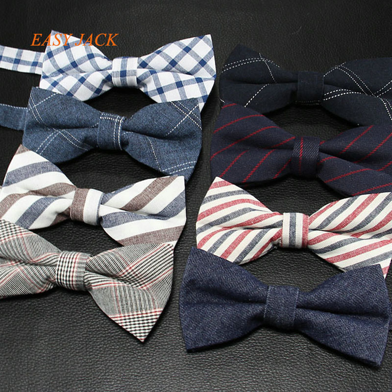 2017 New Style Cotton Bowties For Men Stripe Bowtie Neutral Neckwear ...