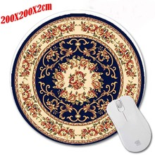 200*220*2mm dark pattern Round Rubber Gaming Mouse Mat Custom Your Styles Non-slip and Durable Computer and Laptop Mouse Pad