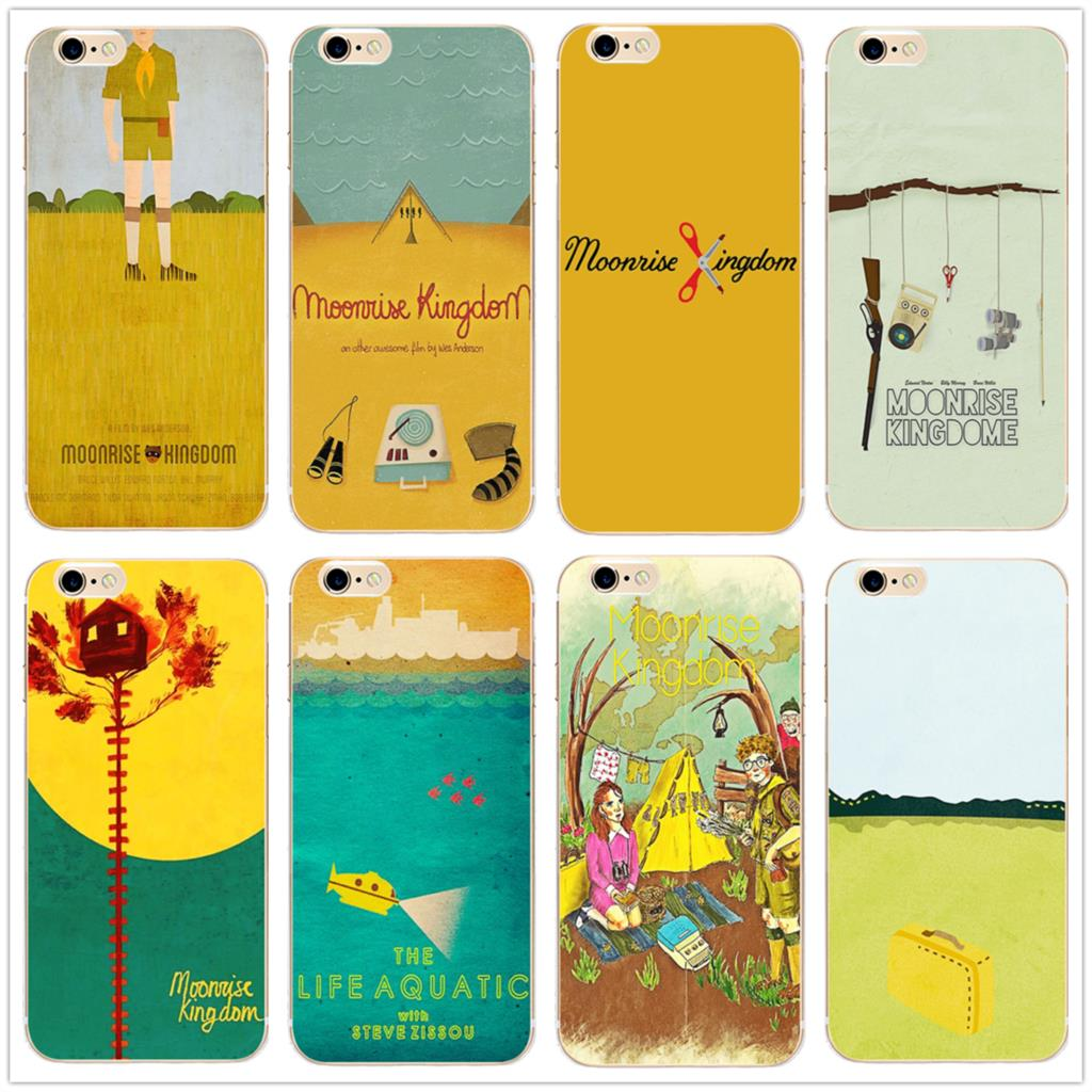 Moonrise Kingdom painting Hard Clear Phone Case cover for Samsung s8 s9plus S6 S7Edge iPhone 7 6s 8plus 5 5c 4 X XS XR XSMAX