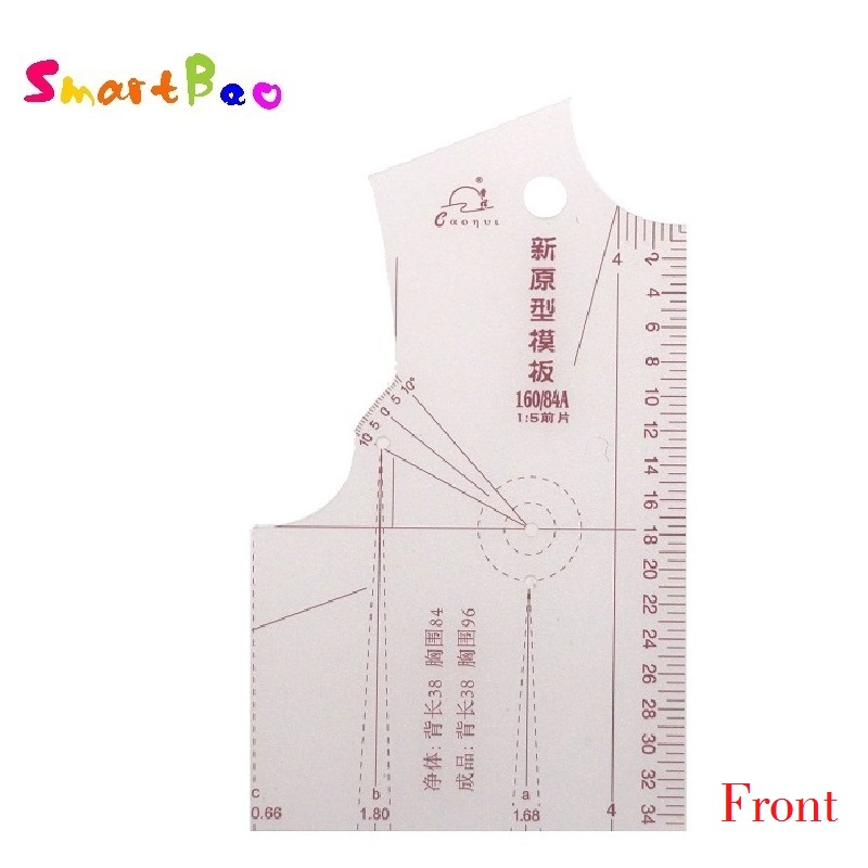 1:5 Fashion Design Ruler Women Cloth Design Clothing Prototype Ruler School Student Teching Blouse Drawing Templete Model 6215