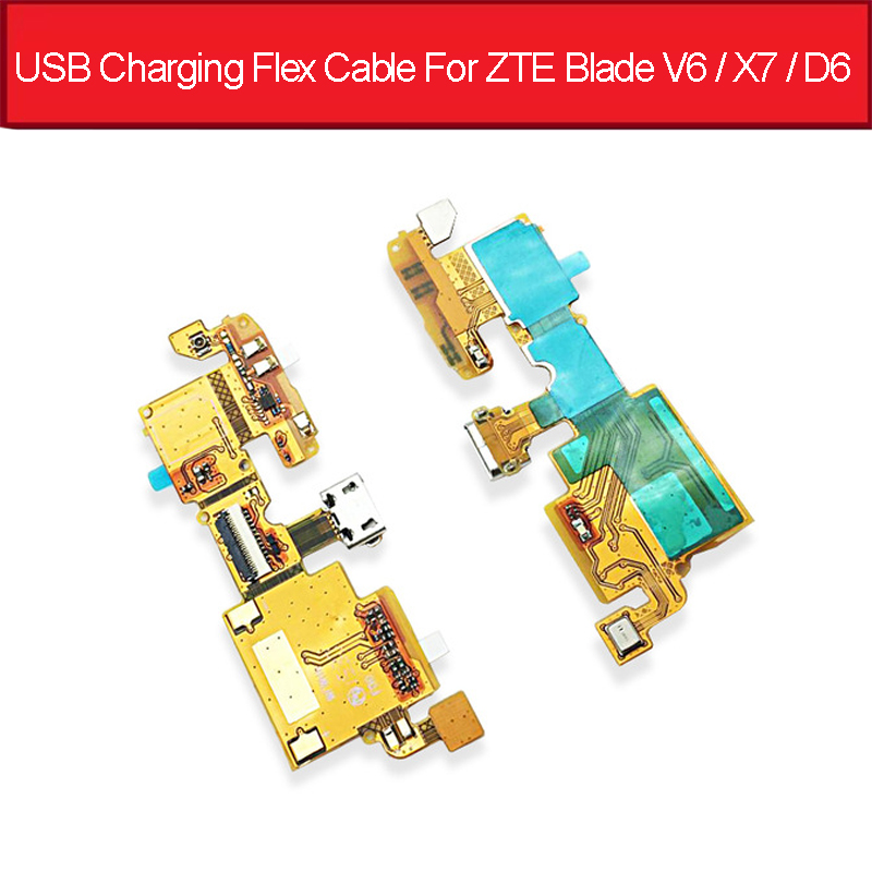 NWT Genuine USB Charging Flex Cable For ZTE Blade V6 / X7 / D6 Charger Port Flex Ribbon For ZTE T660 Usb Jack Dock Replacement