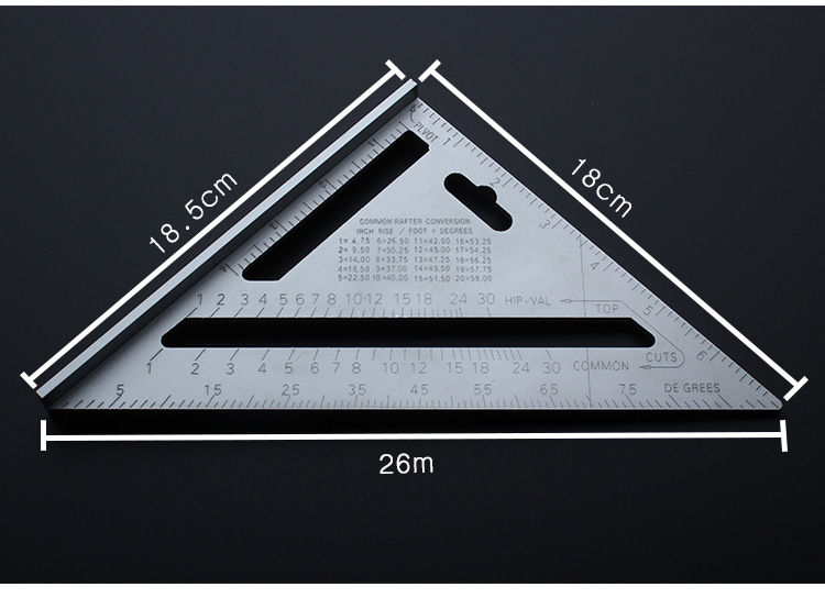 7 Square Carpenter s Measuring Ruler Layout Tool Triangle Angle Protractor New Quick Premium Read Rafter