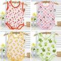 3 pçs/lote Novas Roupas Para Bebês Recém-nascidos Roupas Bebe Corpo de Manga Curta Bodysuits Macacão Infantil Verão Menina Roupa Do Bebê Por Atacado