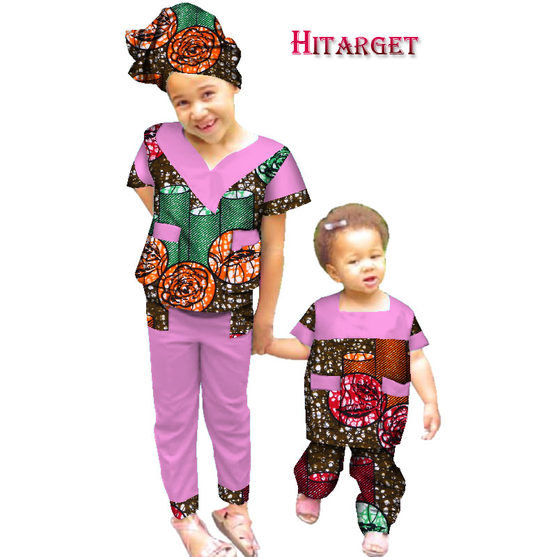 autumn sister 2 pieces African children Clothing dashiki Traditional cotton suits Matching Africa Print Children Clothing WYT231 in Africa Clothing from Novelty Special Use
