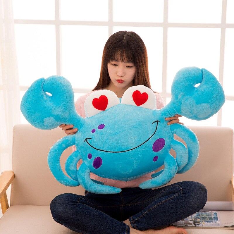 Hot 60 85Cm Big Eyes Crab Pillow Stuffed Animal Toys Soft