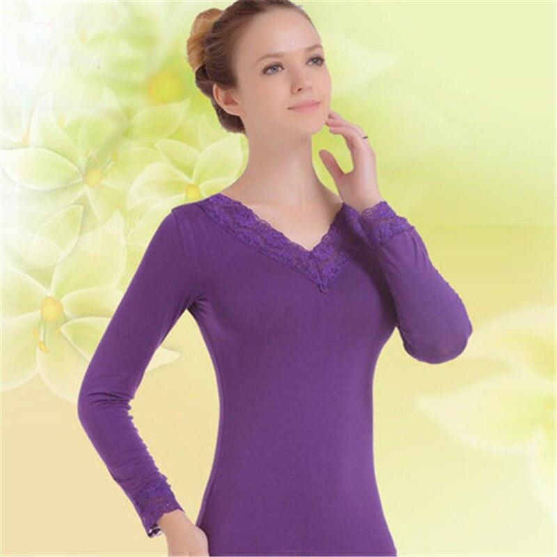 New Winter Women's Slim Fit Lined Top & Bottom Thermal Underwear Set Modal Lady Seamless Shaperwear Pajamas Black 5XL 4XL