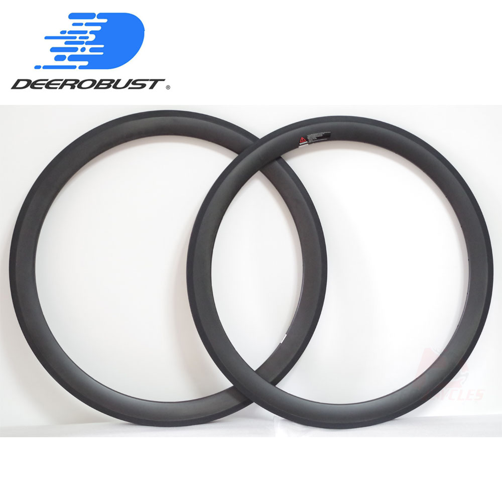 350g Light 700c 50mm Carbon Tubular Wheel Road Bike Rims UD Matte Bicycle Rim Basalt Brake Surface 16 18 20 21 24 28 Holes