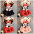 Summer Kids Dress Set Baby Girls Cartoon Minnie Costume Tutu Princess Dress Set Children's Party Clothing Sets For Teenage Girls