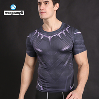 Black Panther Captain America Iron Man Summer Soldier T Shirt Compression Men T Shirt Crossfit Camiseta