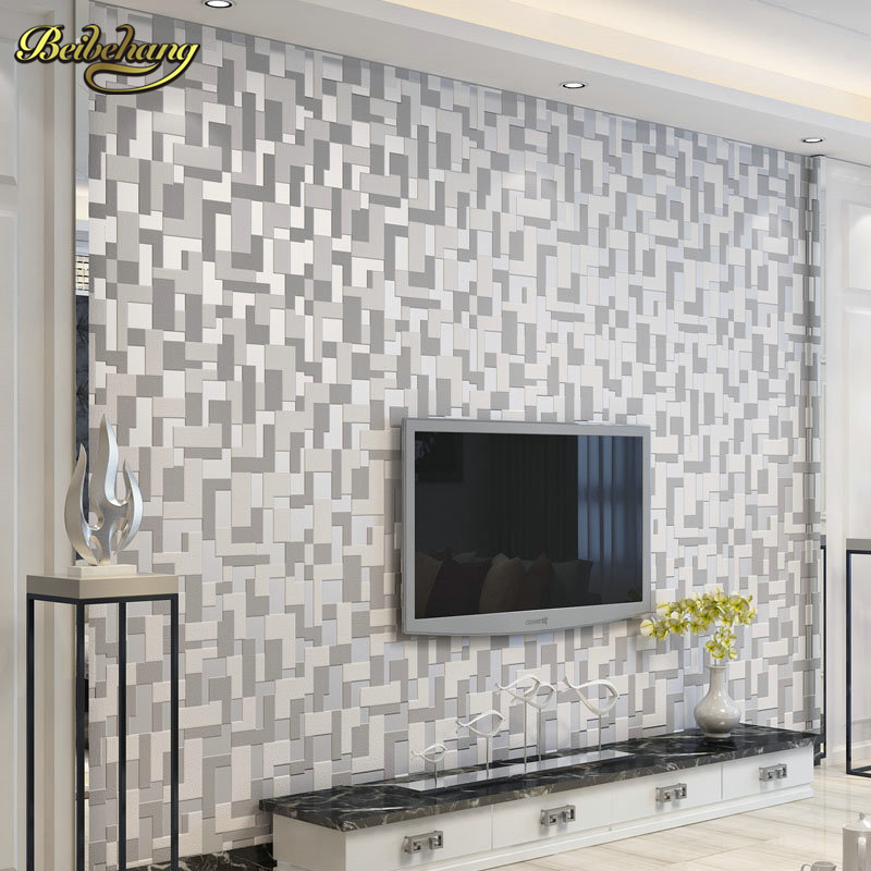 все цены на beibehang modern Mosaic papel de parede 3d wallpaper for walls wallpaper roll mural wall paper roll contact paper living room онлайн