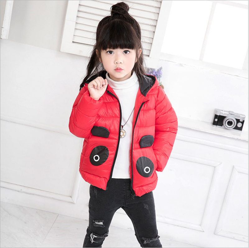 Thicken Parkas for Baby Girls Boys 2017 New Winter Cartoon Hooded Kids Girls Down Korean Boys Coat Cotton Children ClothingDp030