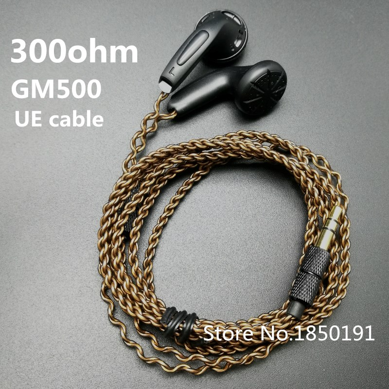 GM500 original en la oreja los auriculares 15mm música 300ohm calidad de sonido de alta fidelidad auriculares (MX500 estilo auricular) 3,5mm L dobladora HIFI cable