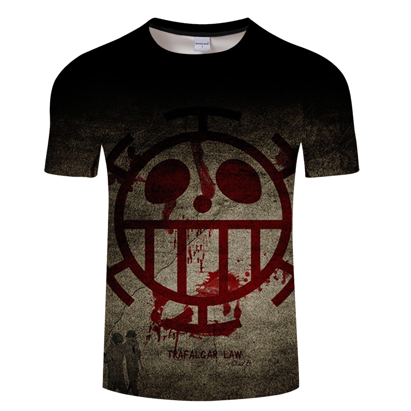 Trafalgar Law One Piece T Shirt Men Women 2019 New Fashion 3D Cartoon T-shirt Brand Clothing Hip Hop Summer Tops Tees shirt 6xl