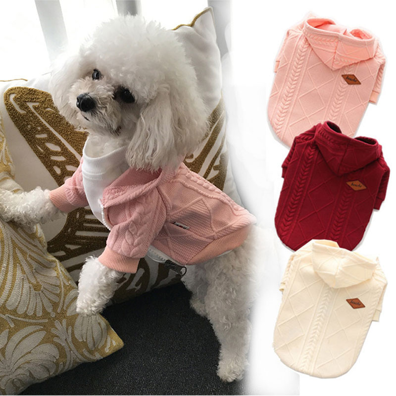 Small Pet Dogs Sweater Cat Winter Warm Sweater Knit Coats Outwear Apparel Small Dogs Clothes Costume Pets Cloth Clothing