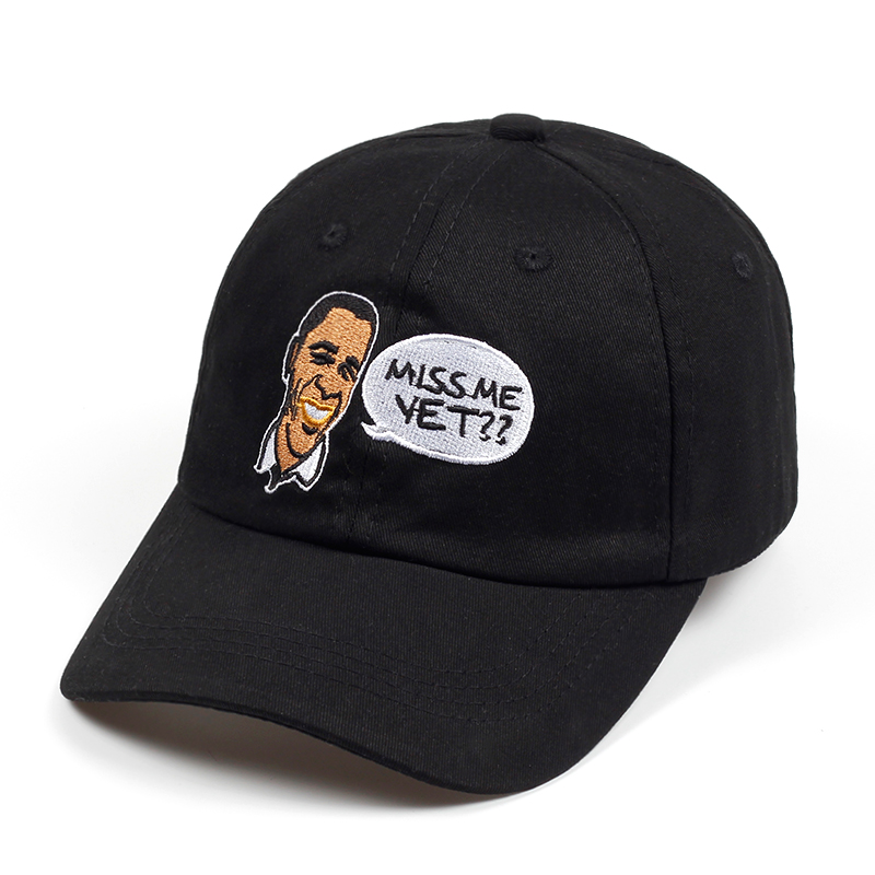 Former US President Barack Obama dad hat MISS ME YET embroidery baseball cap  for man and women Funny face snapback caps be9e3f92e24