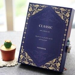 Vintage journal w twardej oprawie hasło pamiętnik z zamkiem szkolne notes podróżnika notatnik planner/dzienniczek