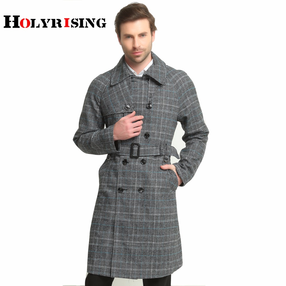 Online Buy Wholesale plaid trench coat men from China plaid trench ...