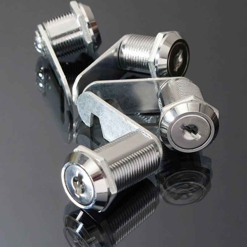 Cam Lock for Door Cabinet Mailbox Drawer Cupboard 16mm 20mm 25mm 2 Keys New