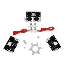 Обновление Экструдер Комплекты Для Автоматического Уровня Dual Head 3D Принтер Дельта Rostock Mini G2S