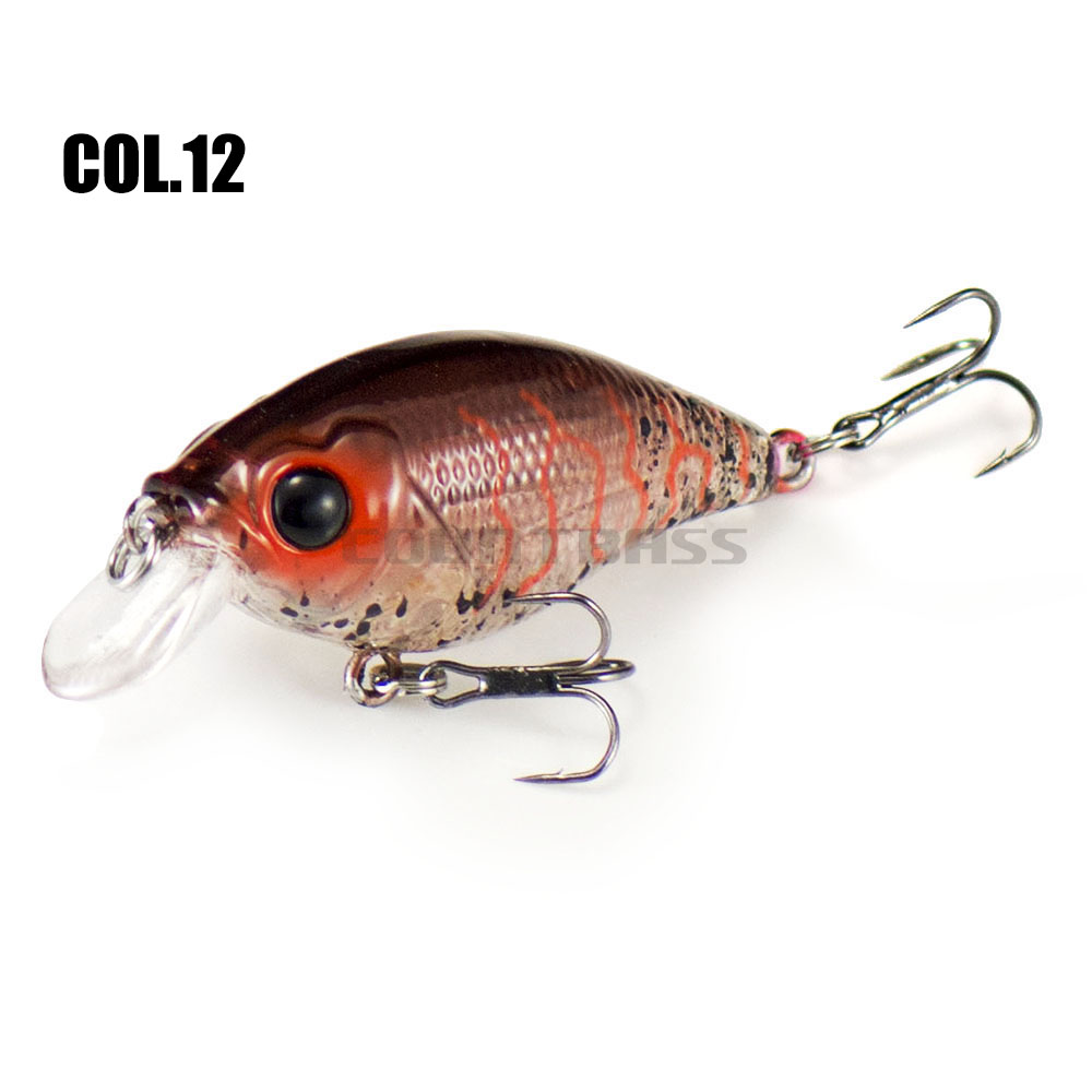 46mm 6.8g Countbass Floating Chatterbait Wobbler Lures for Fishing, Crank Bait Hard Plastic Lures for Salmon Trout Bass Pike-4