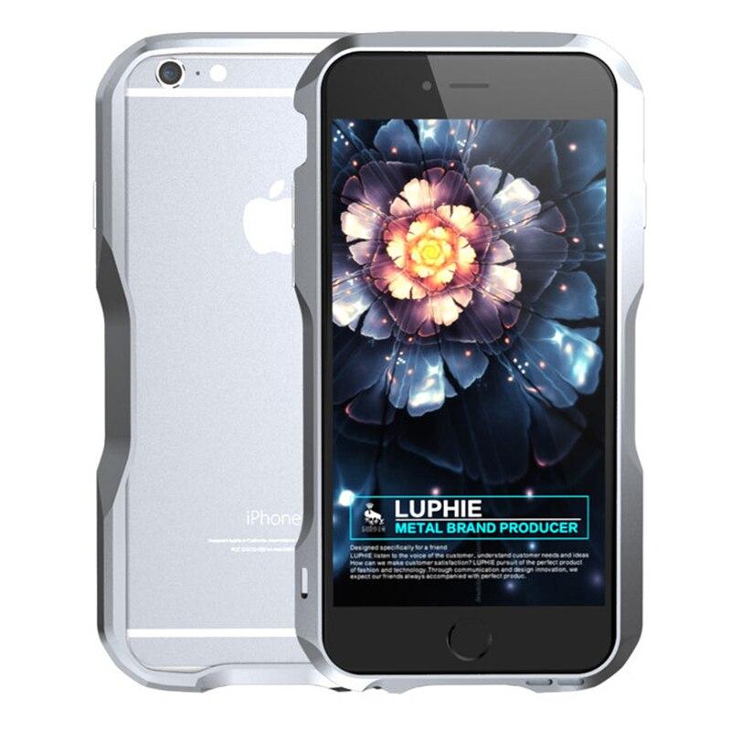 Цена за Сильный Мощность Алюминий Металл ca s e для Apple iPhone 6 бампер Роскошные кадров телефон боковую крышку для iPhone 6 S 6 S plu S 6Plu s ca s e Coque
