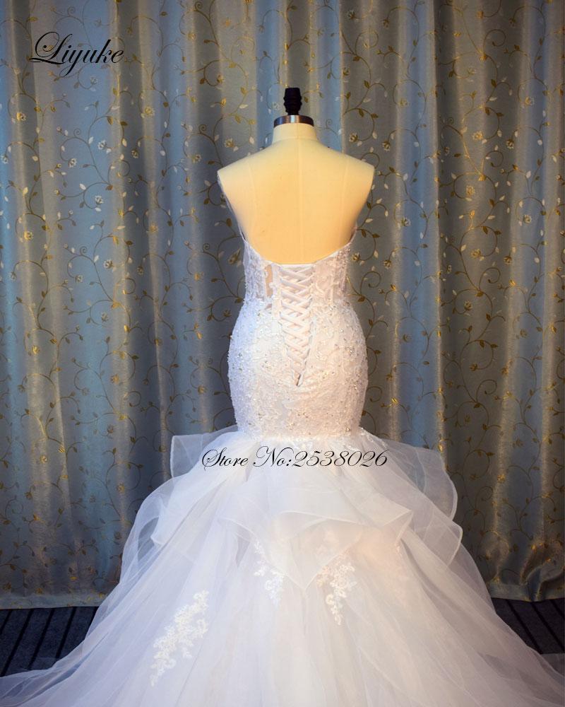 Av axeln Sweetheart Neckline Mermaid Wedding Dress 2017 Ansikter - Bröllopsklänningar - Foto 5