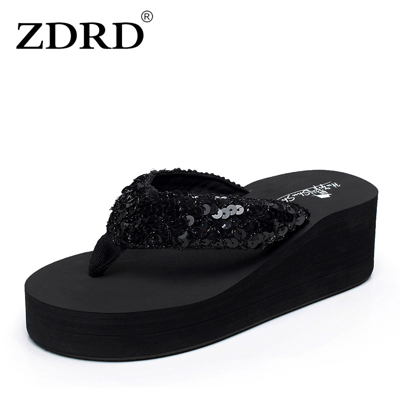 ZDRD summer women funny slippers female high-heeled sandals thick non slip bottom slope beach fenty slides sandals pinch pantufa aird alisdair stapley fiona good guide to dog friendly pubs hotels and b