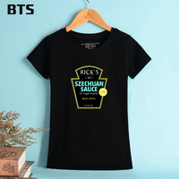 BTS Rick And Morty Grandfather T Shirt Women Casual Female T Shirts De Mulher Plus Size