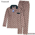 Pajamas For Men Autumn 100% Cotton Long-sleeveand Sleepwear Pullover Pyjamas Men Lounge Pajama Sets
